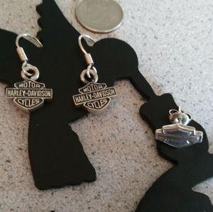 Sterling Harley earrings